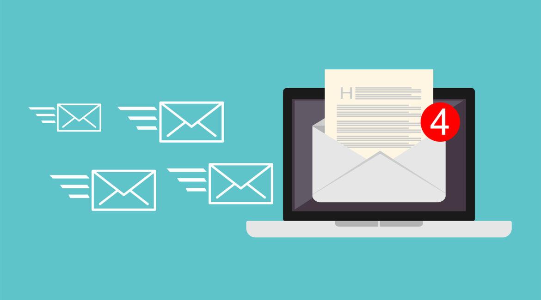 kontrola e-mailov a ich spracovanie